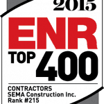 SEMA Construction's 2015 ENR Top 400 Contractors Ranking!
