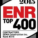 SEMA Construction's 2015 ENR Top 400 Contractors Ranking!